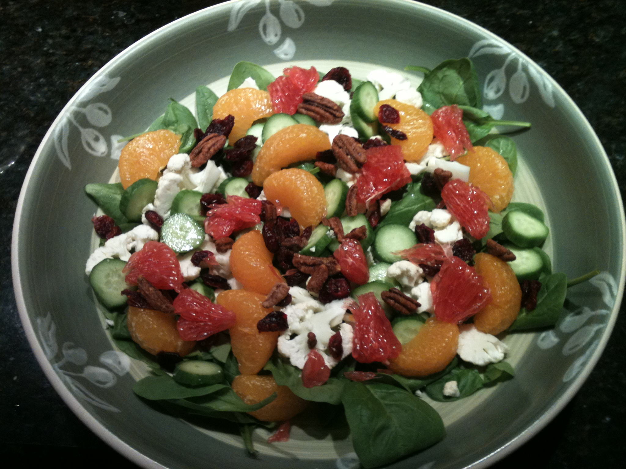 Citrus Salad with Fig Dressing