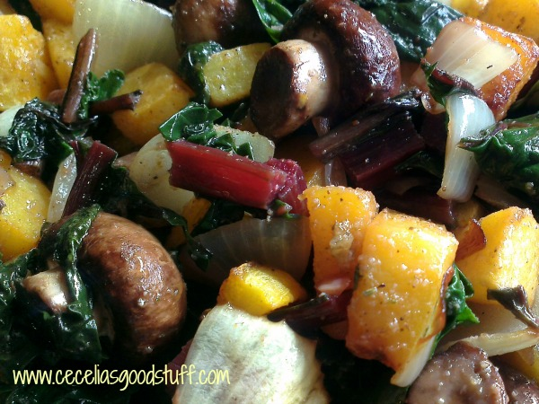 Roasted Squash & Beets with Mini Portabella Mushrooms