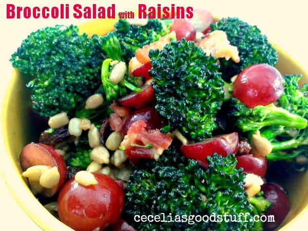 Broccoli Salad with Raisins