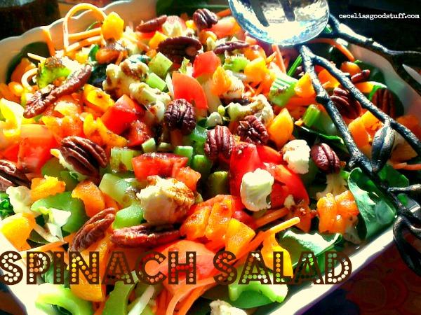 Spinach Salad & Fig Vinaigrette