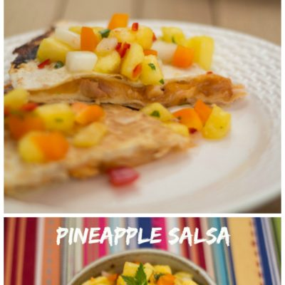Barbecue Chicken Quesadillas with Pineapple Salsa