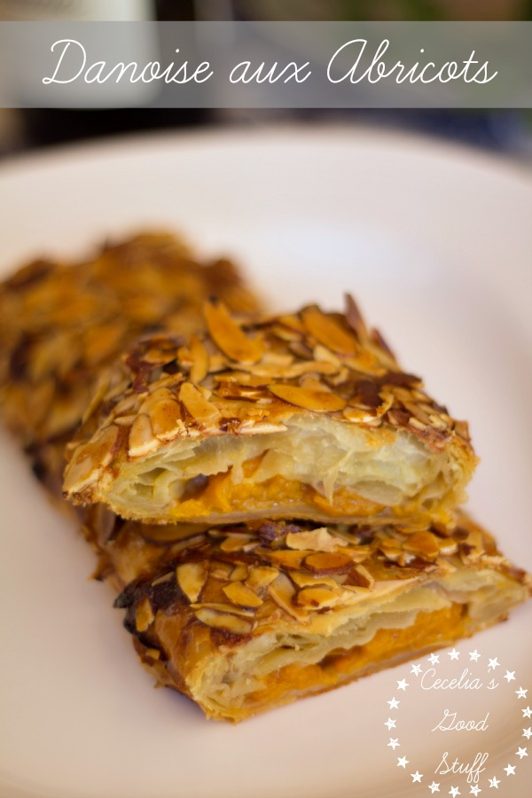 Puff Pastry Apricot Danish with Almonds