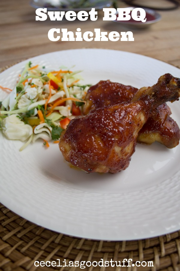 Sweet-BBQ-Chicken-Recipe CeceliasGoodStuff.com Good Food for Good People