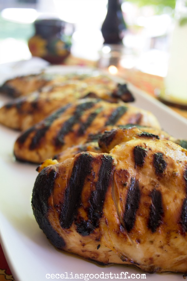Spicy Red Chile Grilled Chicken