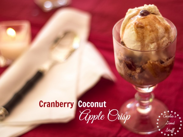 Cranberry Coconut Apple Crisp