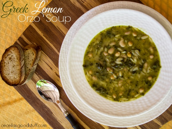 Greek Lemon Orzo Soup