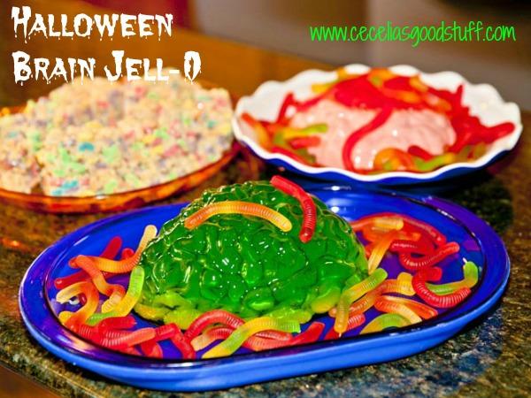 Halloween Brain Jell-o