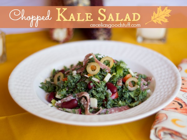 Chopped Kale Salad  CeceliasGoodStuff.com | Good Food for Good People
