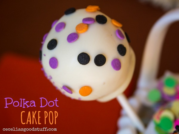 Polka Dot Cake Pop