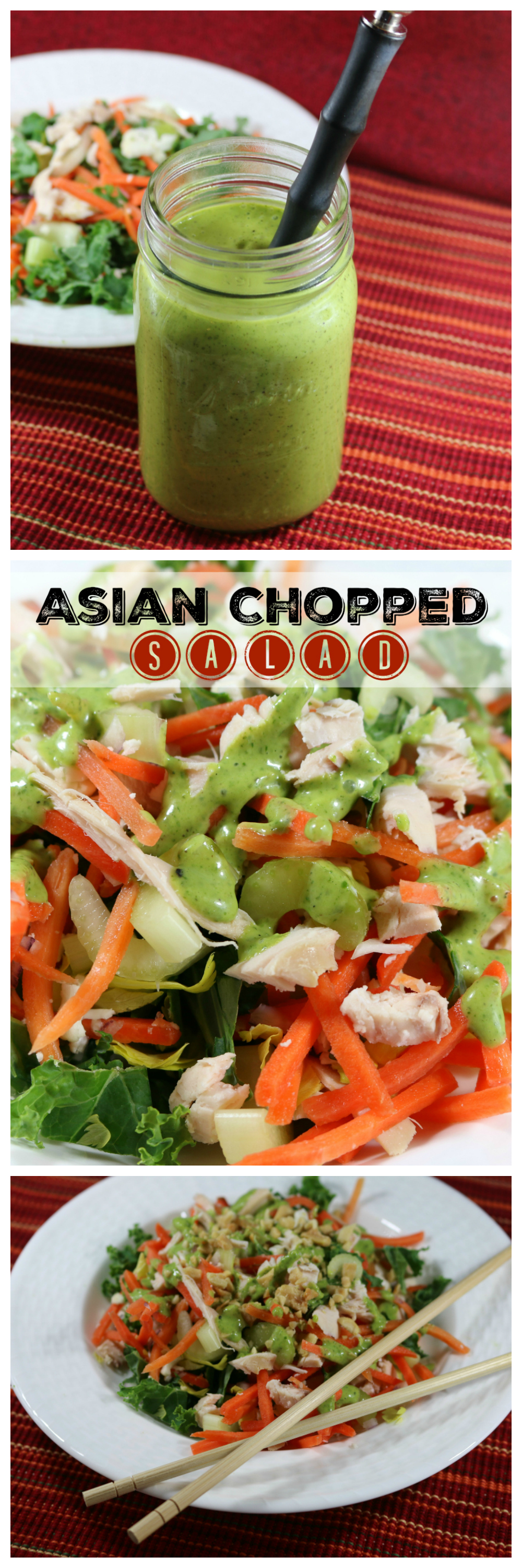 Asian Chopped Salad with Cilantro Lime Dressing CeceliasGoodStuff.com Good Food for Good People