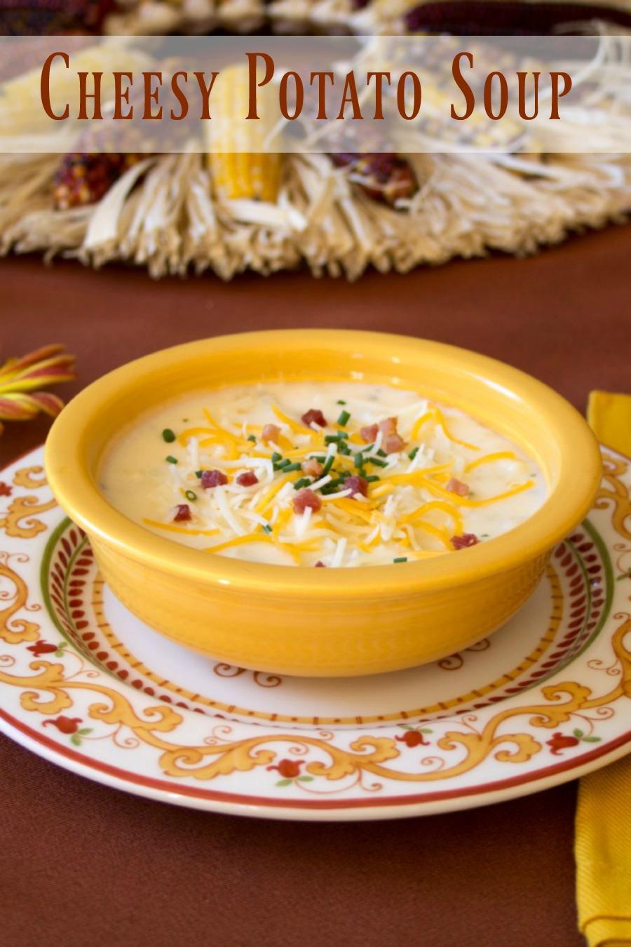 A Southwestern favorite -  Cheesy Potato Soup