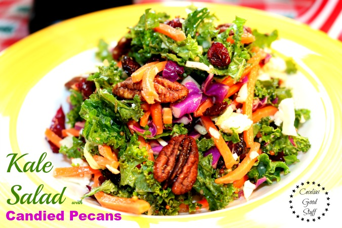 Kale Salad with Candied Pecans
