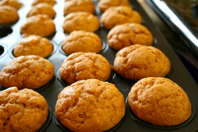 Apple Flaxseed Muffins loaded with fiber and omega 3 fatty acids.