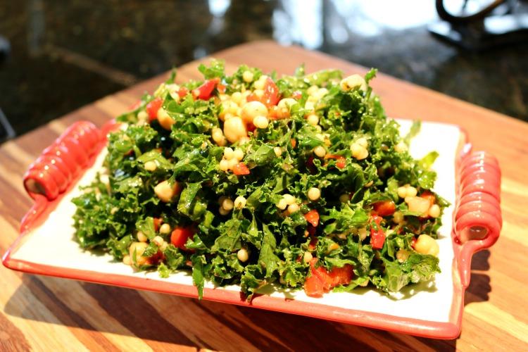Kale Salad with Orange Herb Vinaigrette