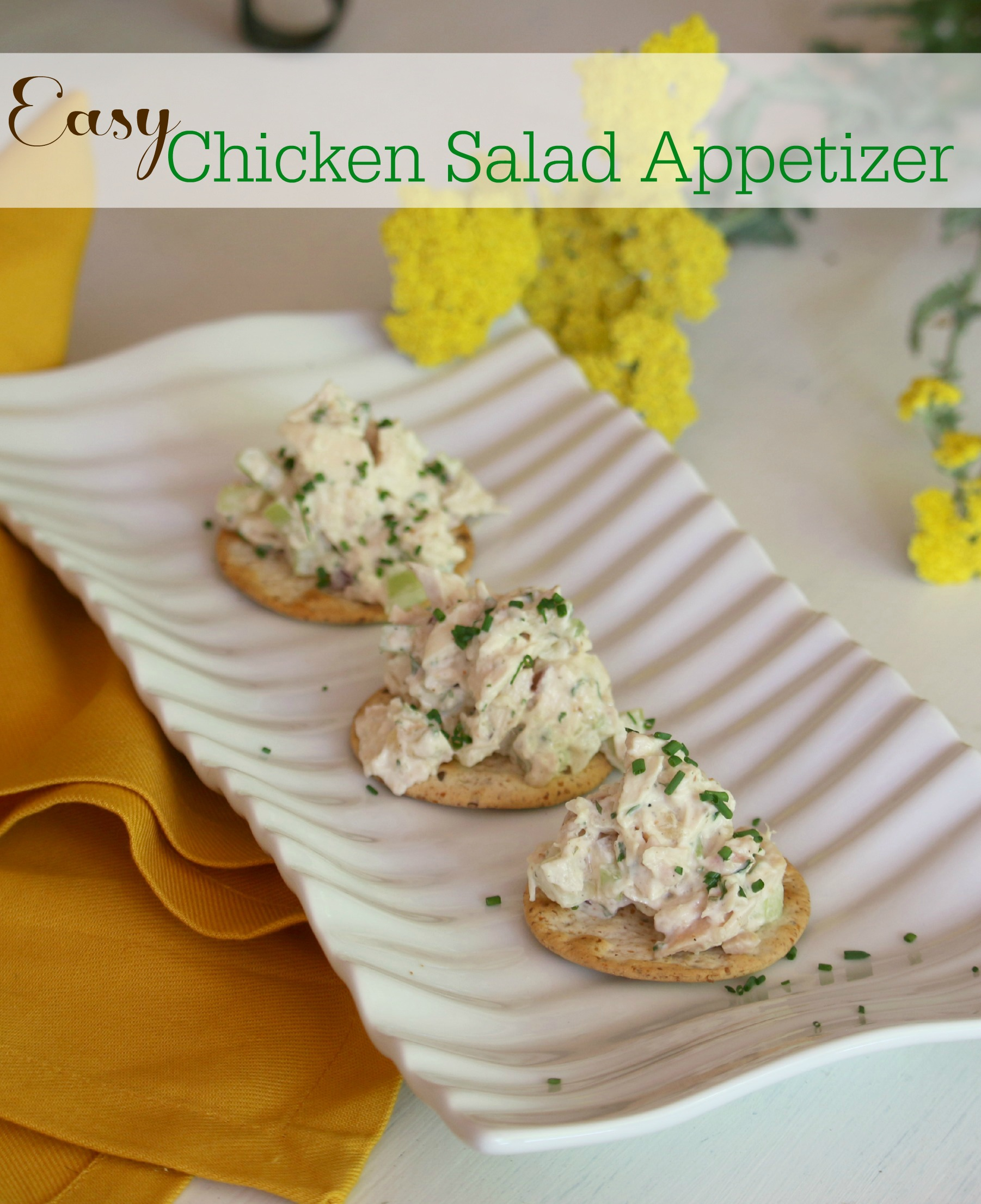 Easy Chicken Salad Appetizer - Great Party Food!