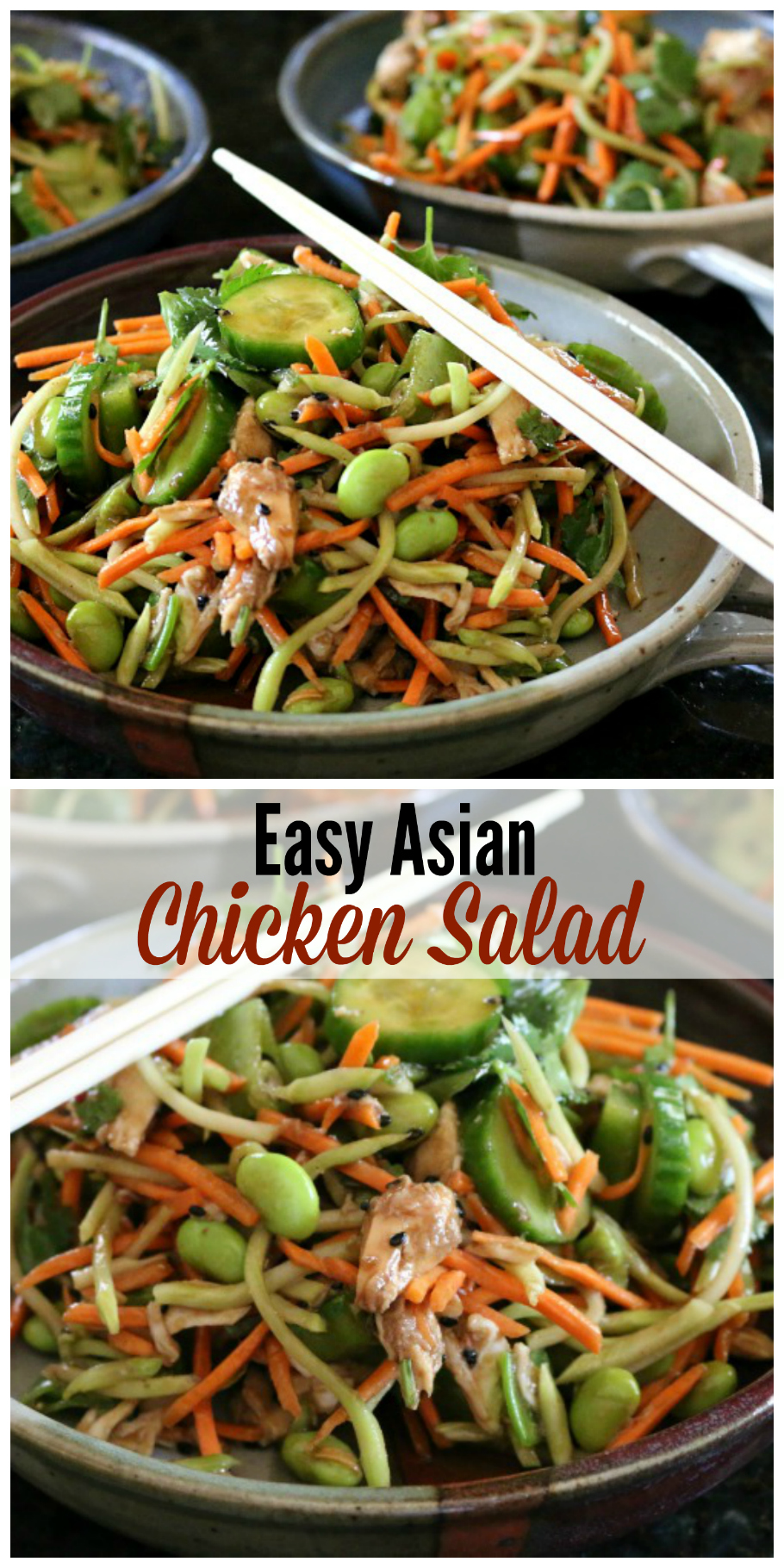 Easy Asian Chicken Salad, make this recipe in just minutes. Simple and Healthy, you can beat that!