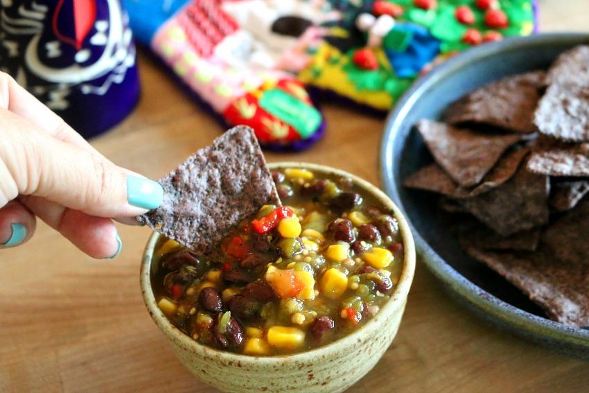 Green Chile and Black Bean Salsa
