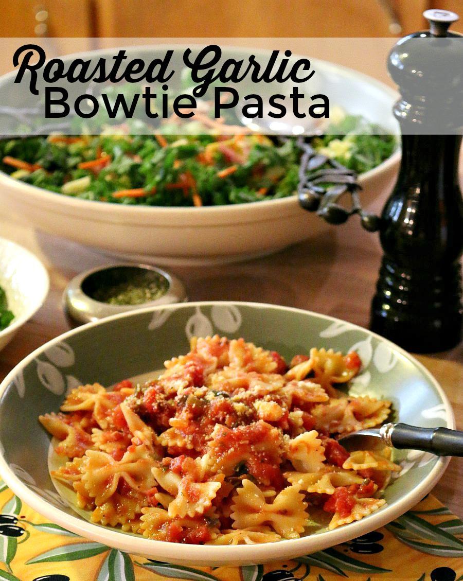 Roasted Garlic Bowtie Pasta Recipe