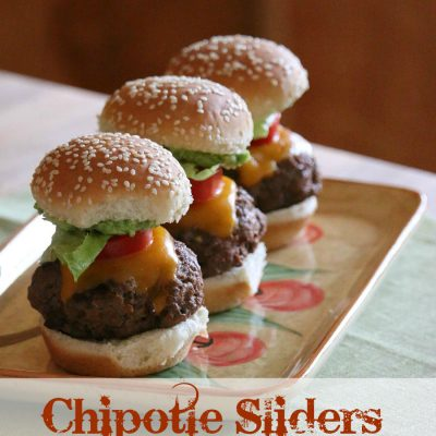 Cheesy Chipotle Sliders with Guacamole