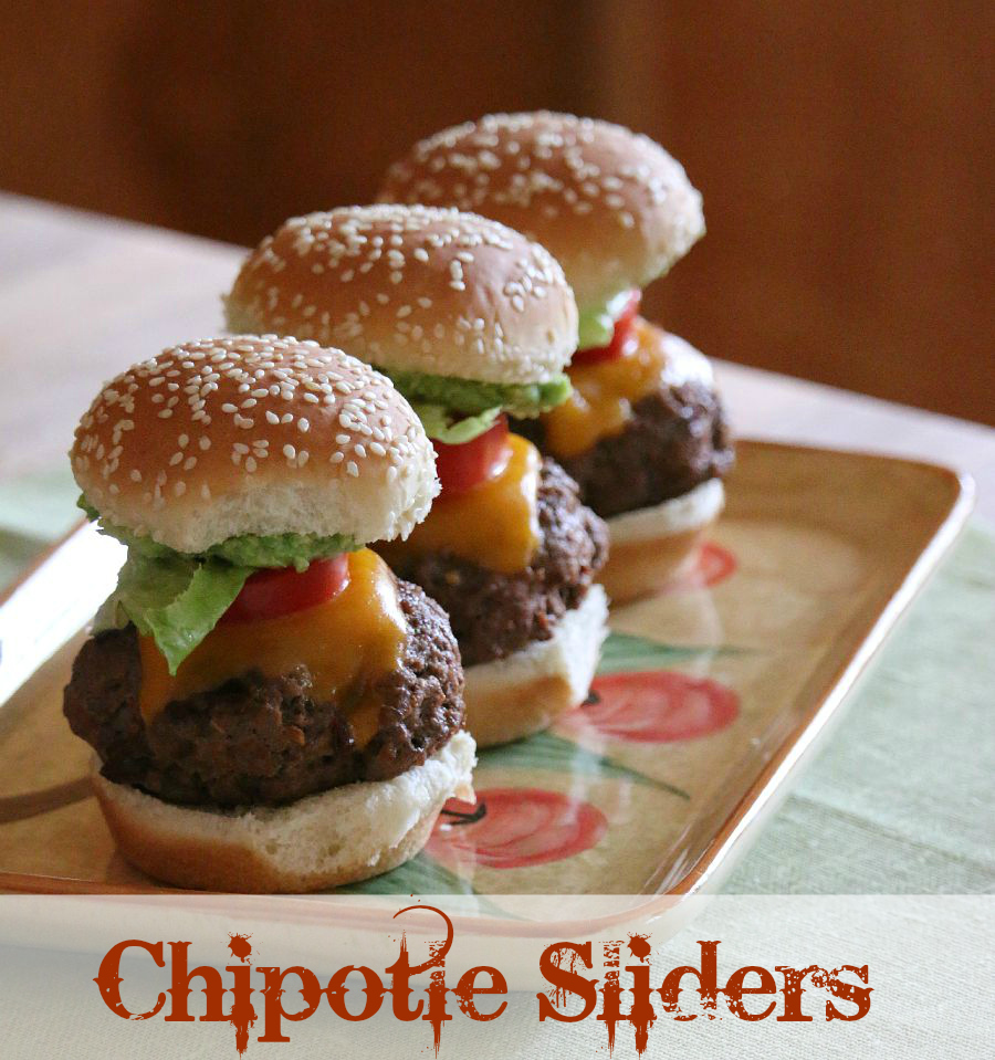 Chipotle Sliders Recipe served with fresh Guacamole CeceliasGoodStuff.com | Good Food for Good People