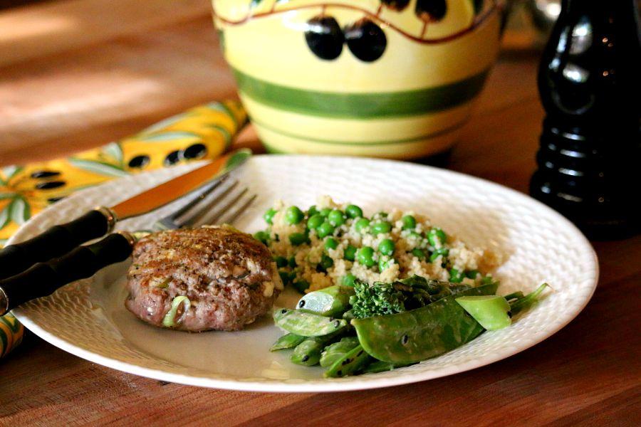 Grilled Lamb Patties with Feta & Mint