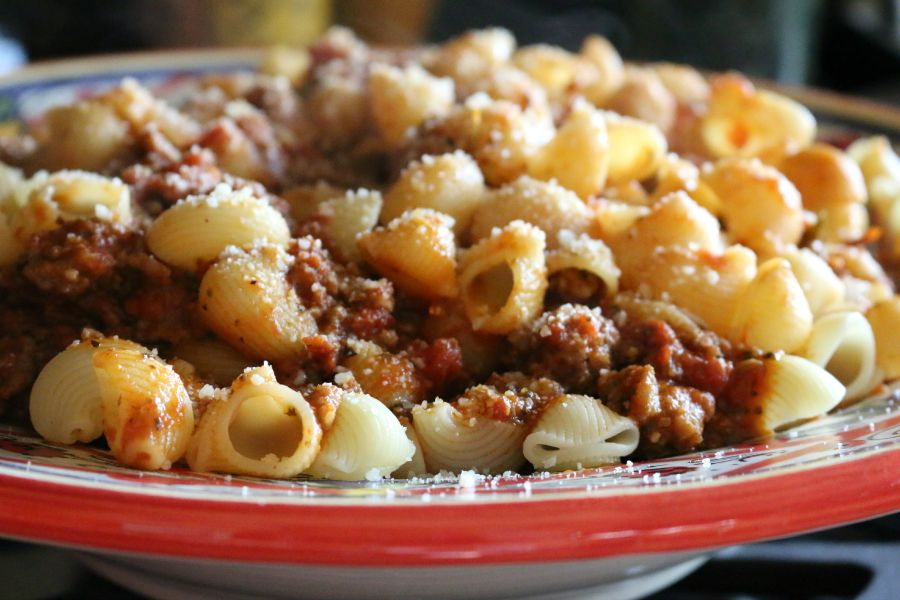 Imported Pasta with Sweet Italian Sausage
