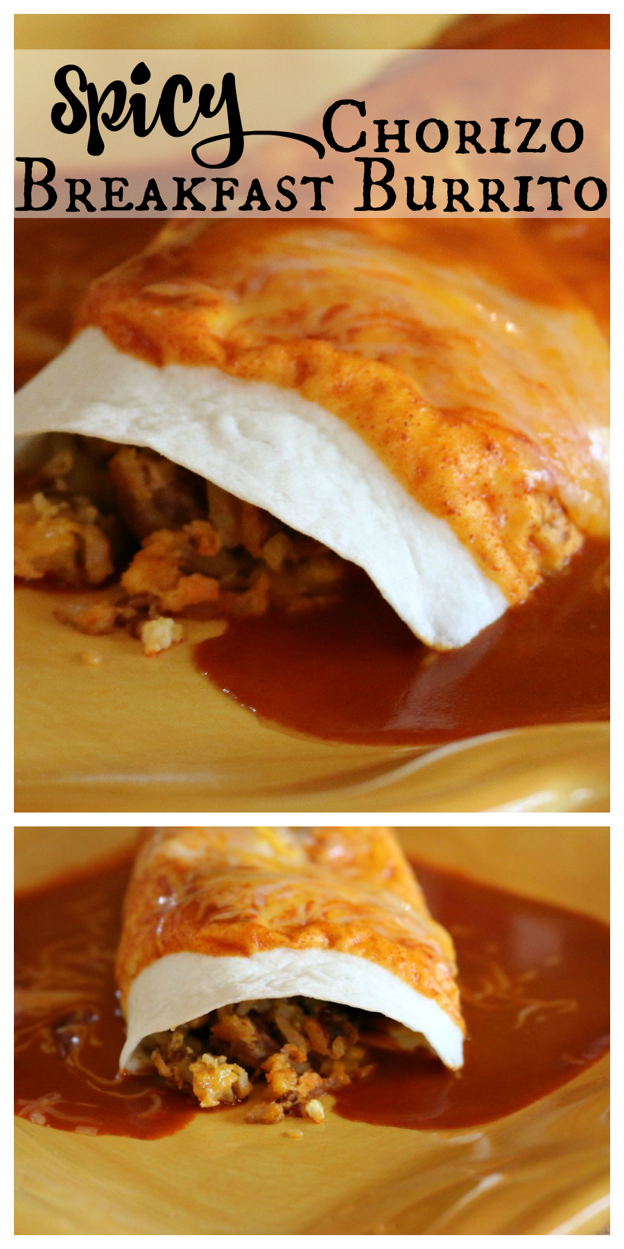 Spicy Chorizo Breakfast Burrito Recipe CeceliasGoodStuff.com Good Food for Good People