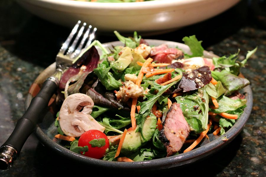 Grilled Steak And Tomato Salad With Rum Vinaigrette Recipe ...