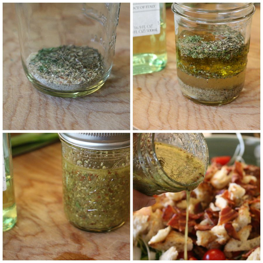 Easy homemade vinaigrette - just a few simple step and you have a healthy homemade salad dressing.