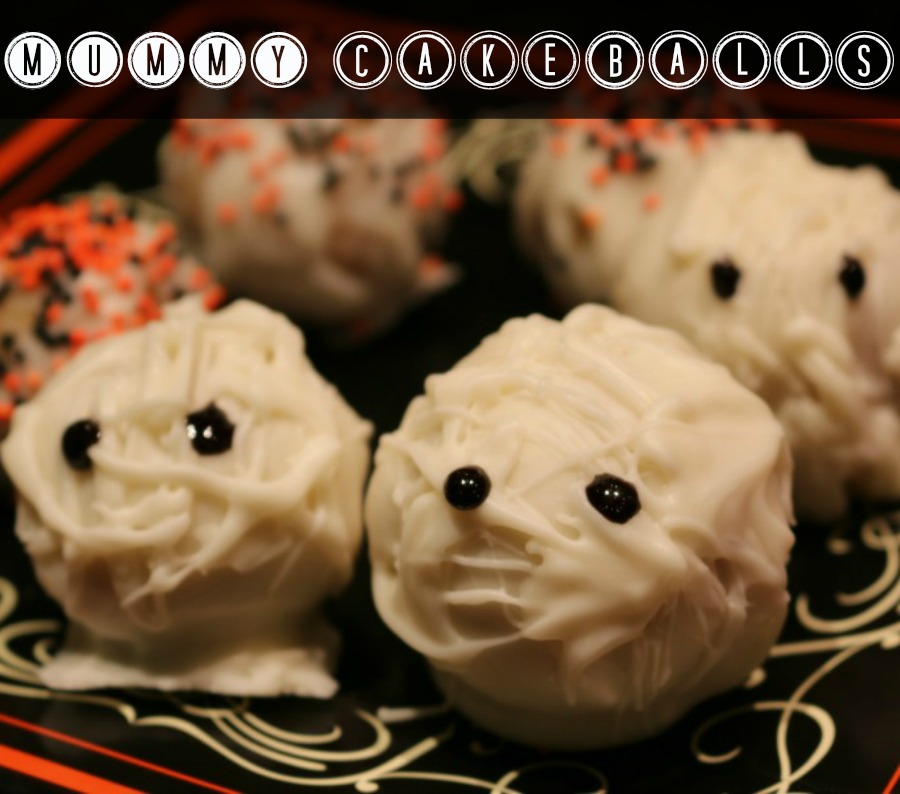 Halloween Mummy Cakeballs  Recipe