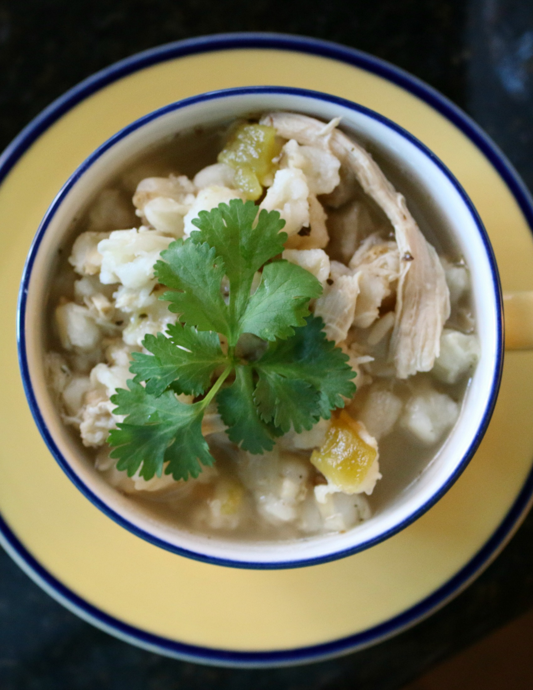 Some of my favorite things to eat include green chile chicken posole. A New Mexico favorite.