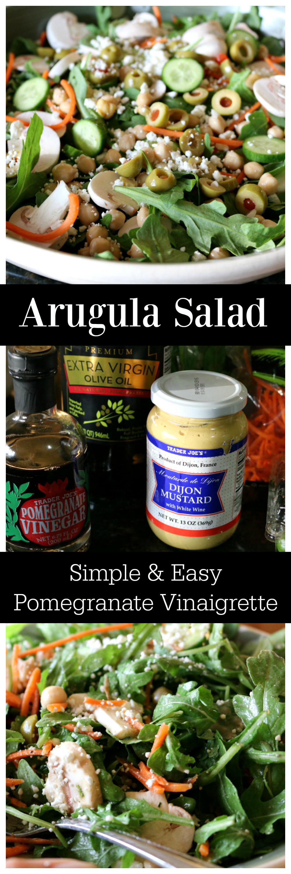 Healthy Eating | Eating Clean and Green | Simple Recipe for Arugula Salad with Pomegranate Vinaigrette