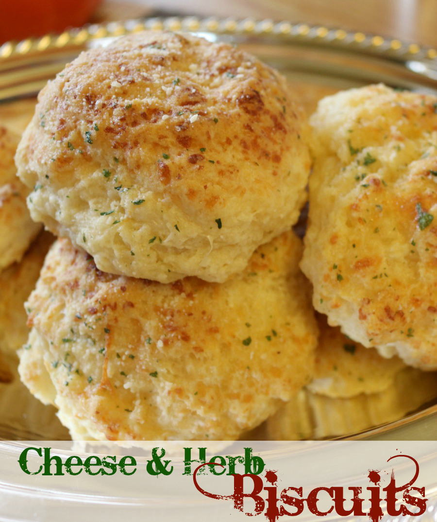 Cecelia's Good Stuff - Easy Cheese and Herb Biscuits Recipe