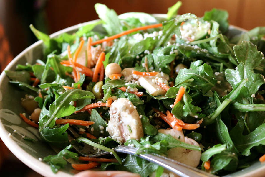 Arugula Salad with a New Pomegranate Vinaigrette - this is a must try recipe. I think it would be perfect for the Holidays!