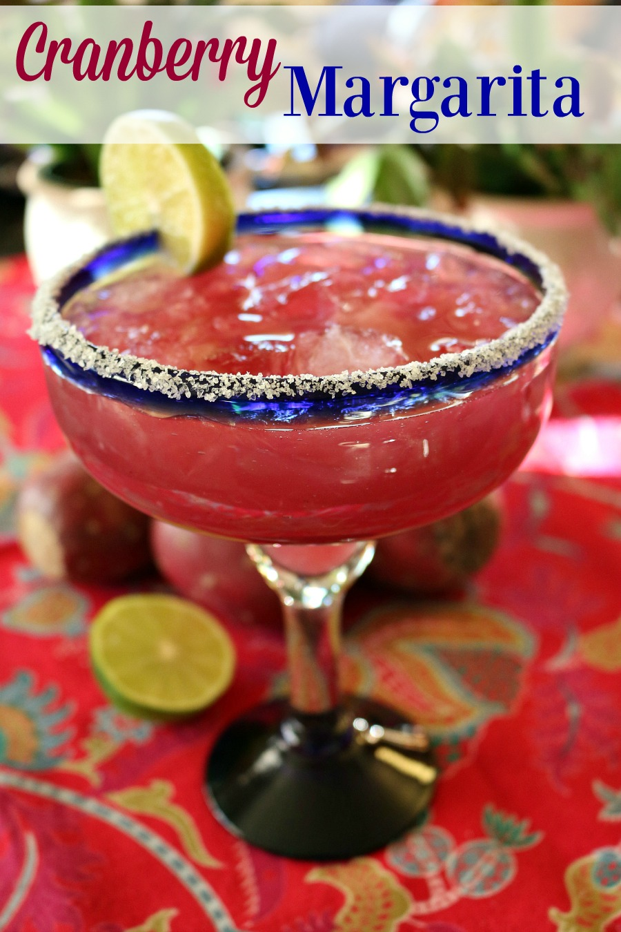 Perfect HOLIDAY COCKTAIL - CRANBERRY MARGARITA  find this delicious cocktail recipe here | www.ceceliasgoodstuff.com