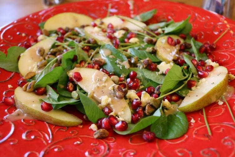 Water Cress Salad with Pomegranate Vinaigrette