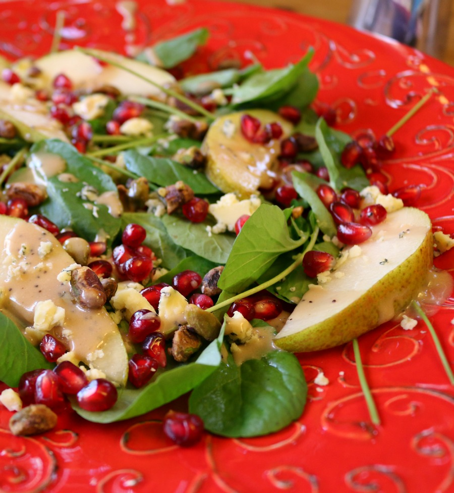 Water Cress Salad with Pomegranate Vinaigrette
