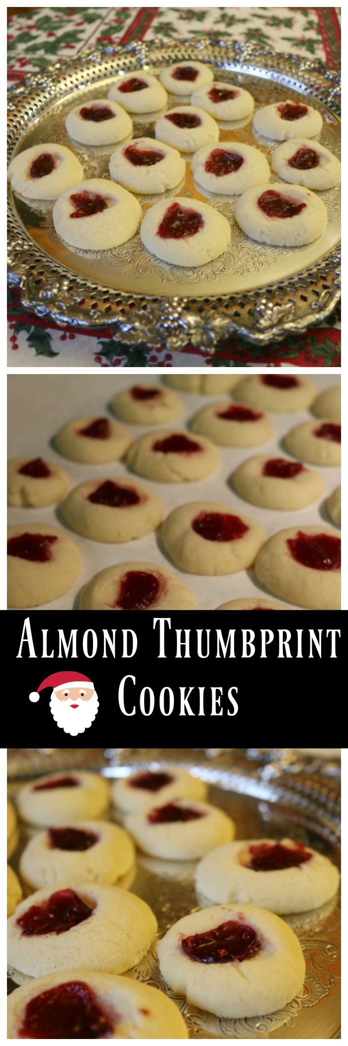 Almond Thumbprint Cookies - Easy Recipe - Holiday Cookies