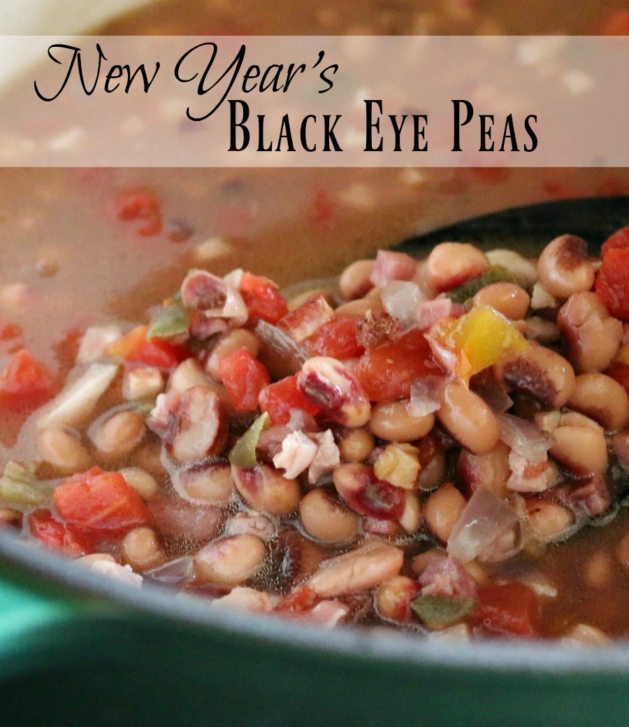 """Where did the tradition come from - eating black eye peas on New Year's day? Find it here. As well as a delicious recipe for """"New Year's Black Eye Peas"""" - good stuff!"""