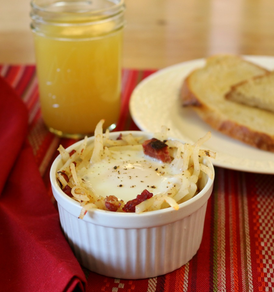 Nest of Corned Beef Hash and great easy breakfast recipe!