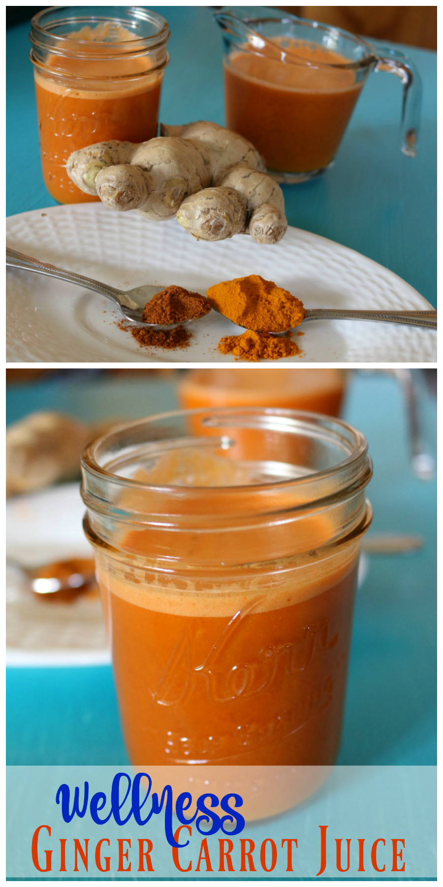 Wellness Ginger Carrot Juice - Anti-Inflammatory | CeceliasGoodStuff.com | Good Food for Good People