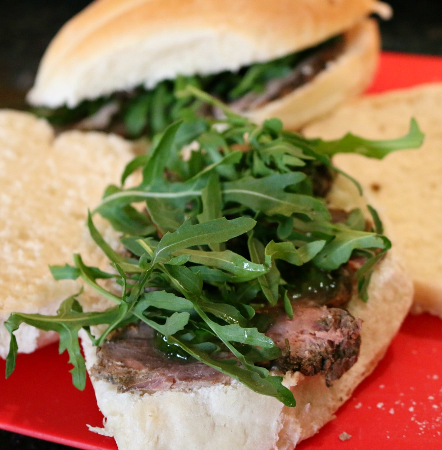 Cold Lamb Sandwich with Arugula and Mint Jelly