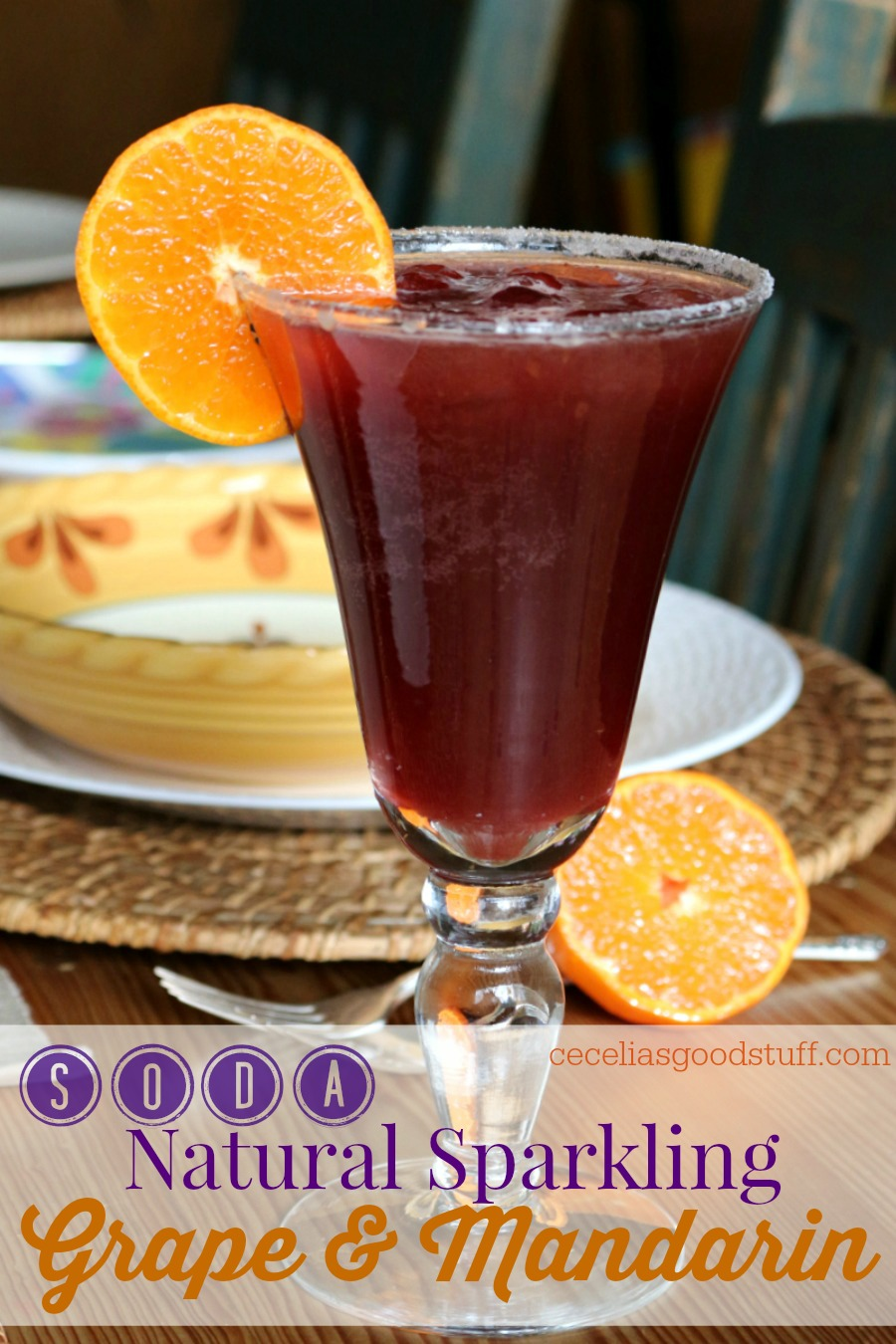 Recipe for Natural Sparking Grape & Mandarin Soda