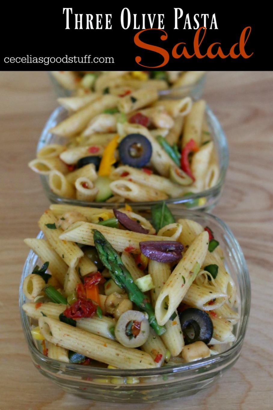 Recipe for Three Olive Pasta Salad