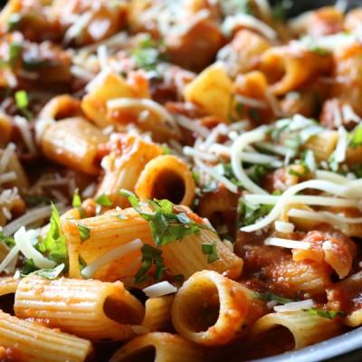Easy Pancetta Rigatoni