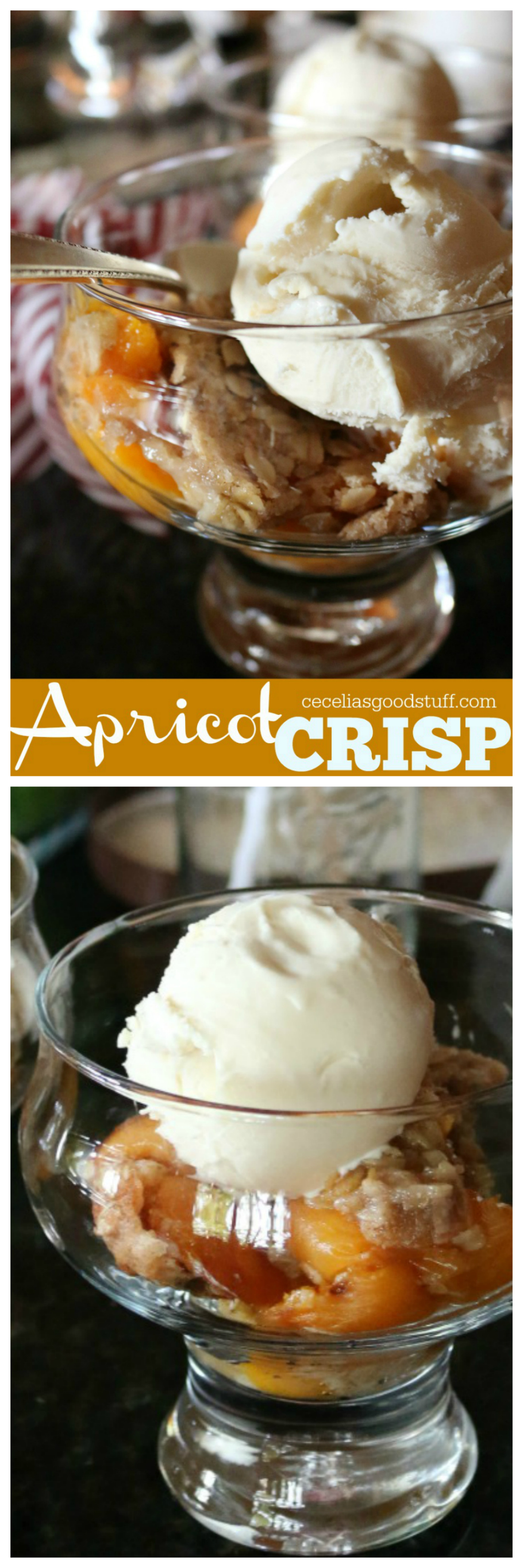 A favorite summer recipe for Apricot Crisp | CeceliasGoodStuff.com | Good Food for Good People