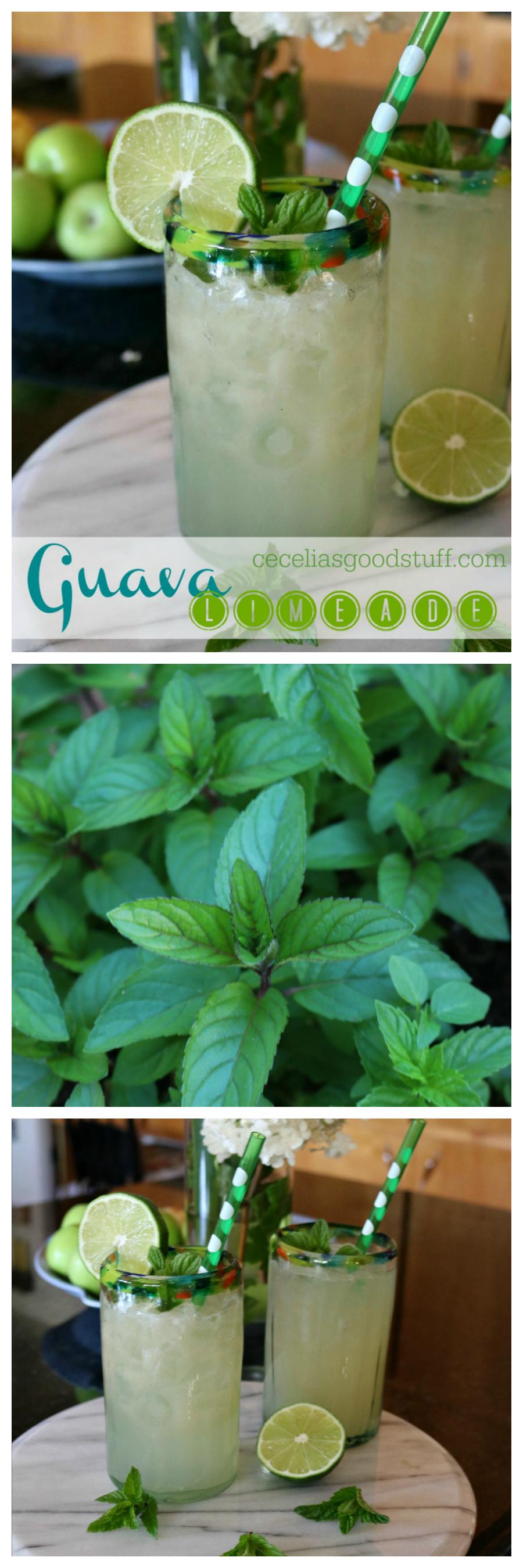 Guava Limeade CeceliasGoodStuff.com Good Food for Good People