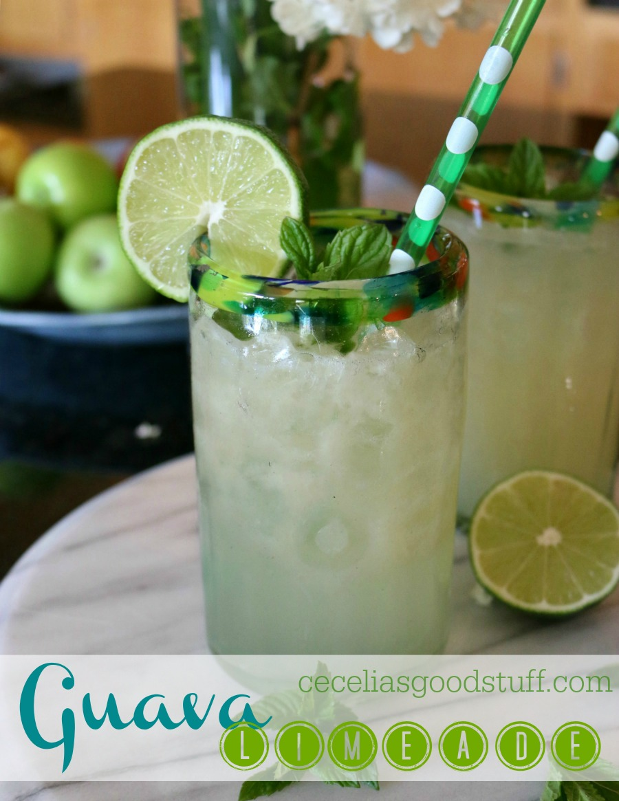 Exotic and Refreshing Recipe for Guava Limeade CeceliasGoodStuff.com | Good Food for Good People