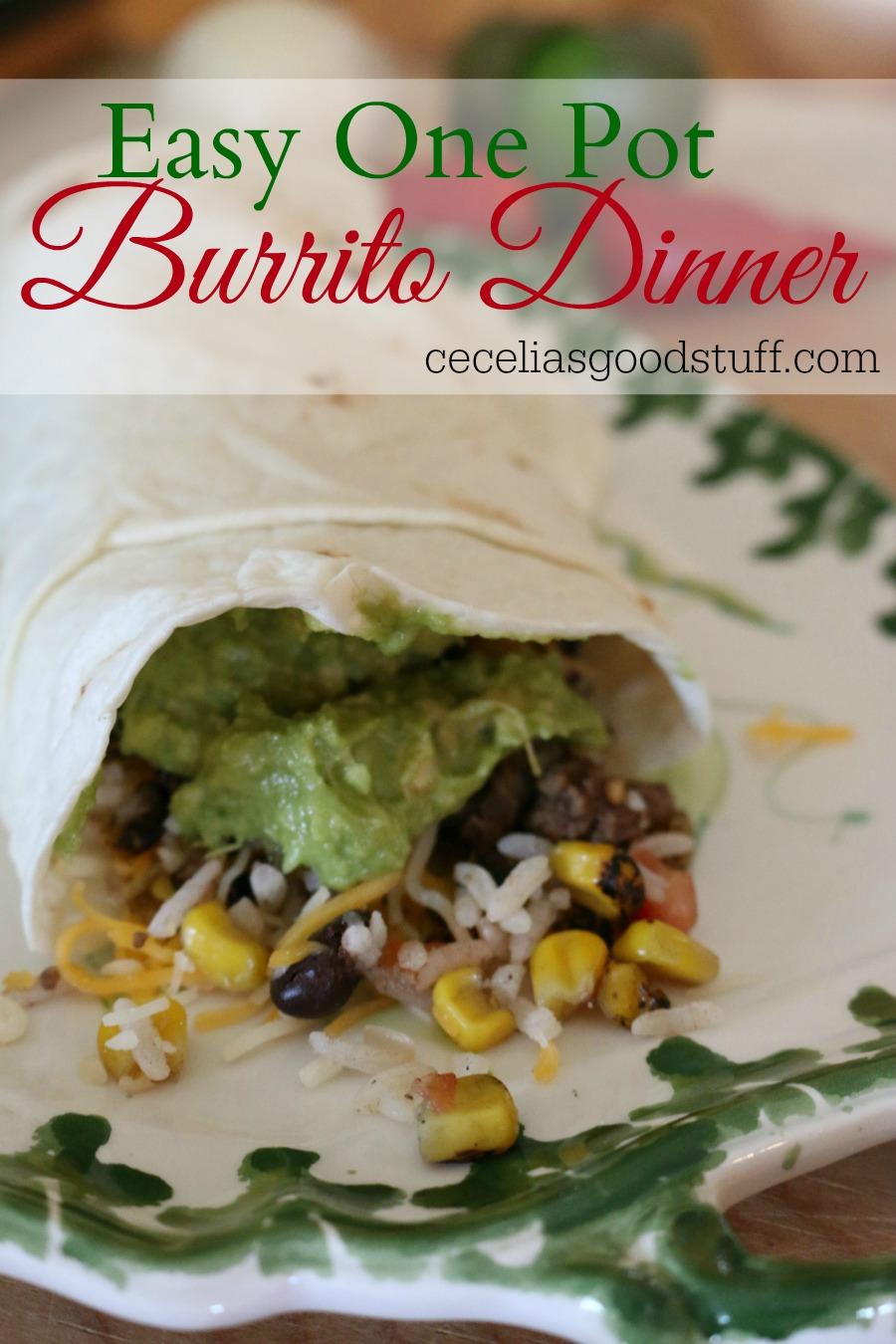 Easy One Pot Burrito Dinner
