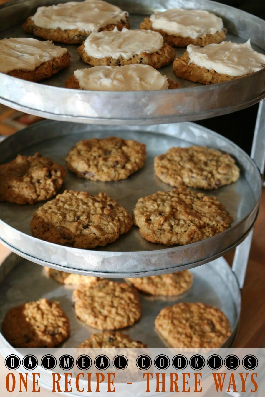 Oatmeal Cookies One Easy Recipe - Cookies Three Ways